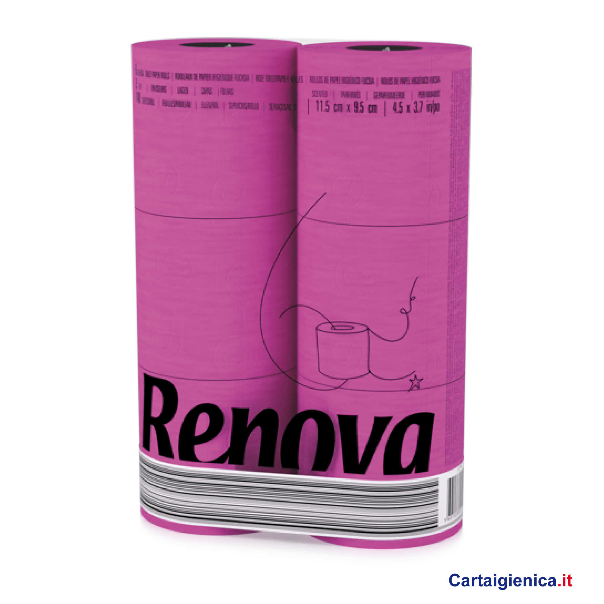 renova carta igienica colorata fuxia 6 rotoli cartaigienica.it