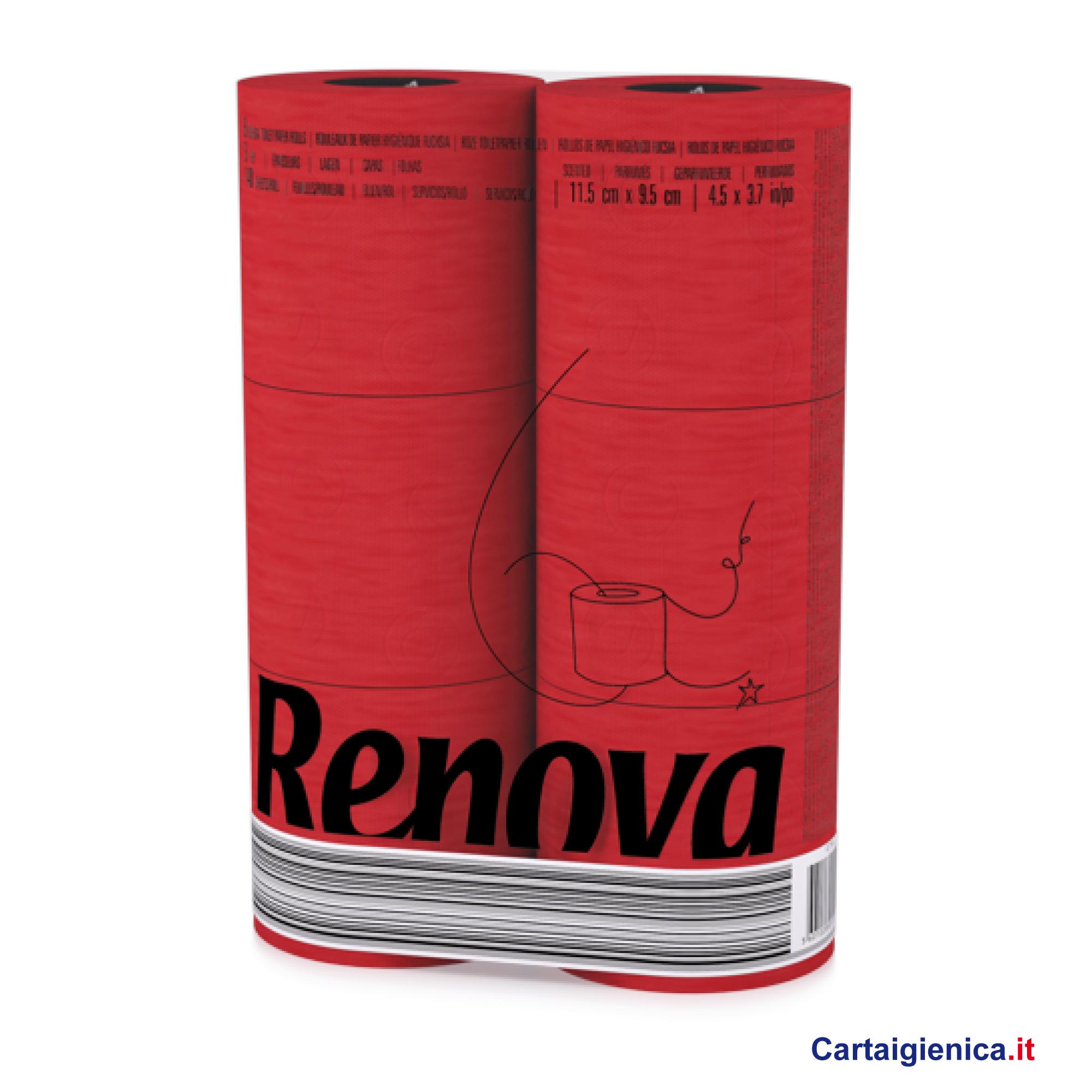 renova carta igienica colorata rosso 6 rotoli cartaigienica.it
