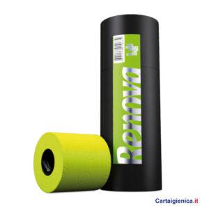 renova carta igienica colorata tubo 3 rotoli verde cartaigienica.it