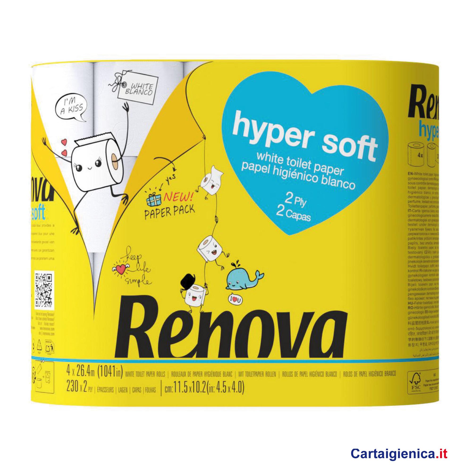 renova carta igienica hyper soft 4 rotoli