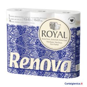 renova royal carta igienica 4 veli 9 rotoli