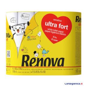 renova carta igienica ultra fort 4 veli 4 rotoli