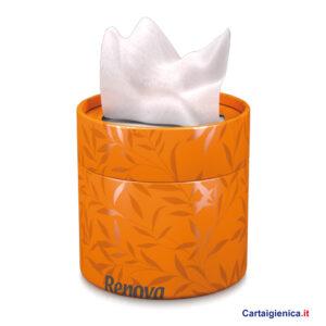 renova fazzoletti veline scatola elegante box arancio idea regalo