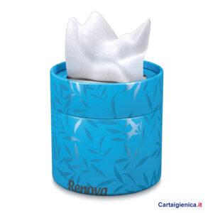 renova fazzoletti veline scatola elegante box blu idea regalo