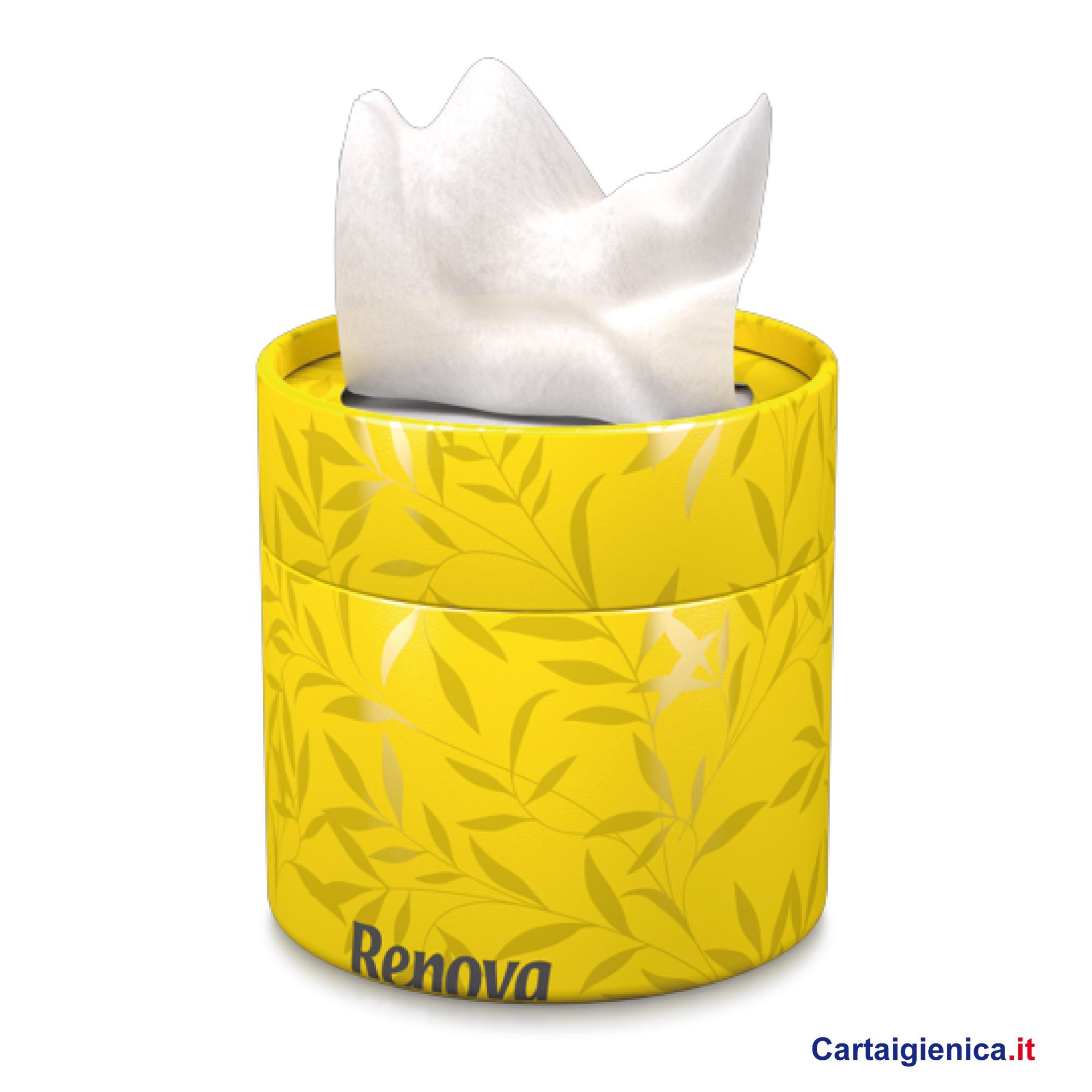 renova fazzoletti veline scatola elegante box giallo idea regalo