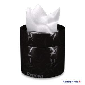 renova fazzoletti veline scatola elegante box nero idea regalo