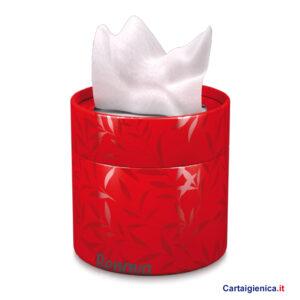 renova fazzoletti veline scatola elegante box rosso idea regalo