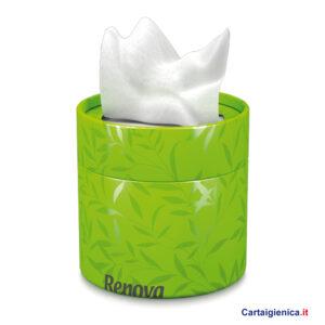 renova fazzoletti veline scatola elegante box verde idea regalo