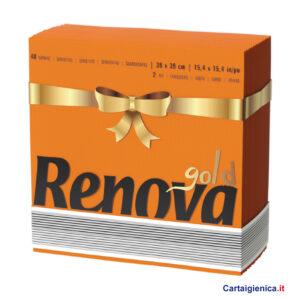 renova tovaglioli di carta colorati arancio 2 veli