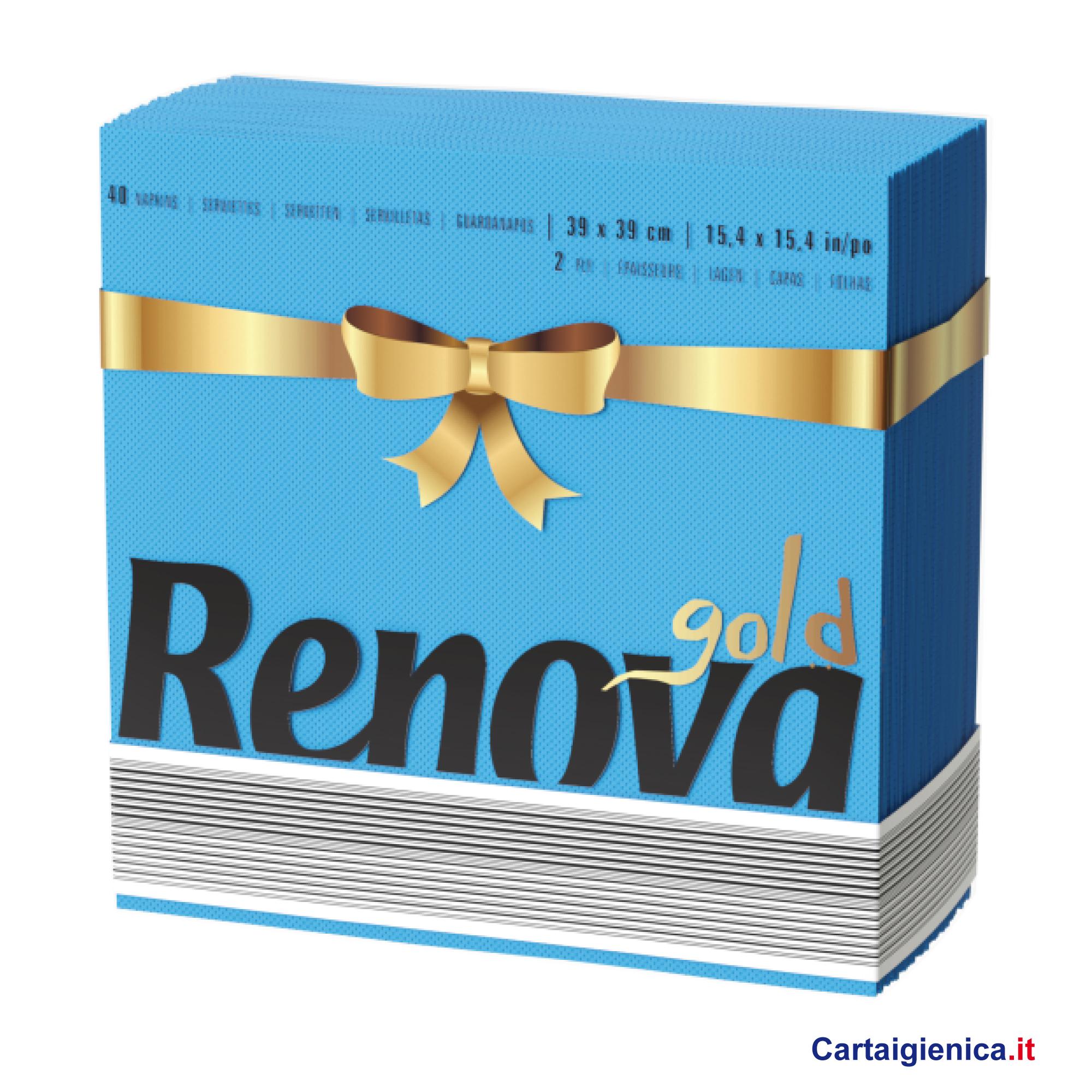 renova tovaglioli di carta colorati azzurro 2 veli