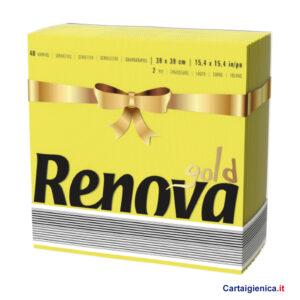 renova tovaglioli di carta colorati giallo 2 veli