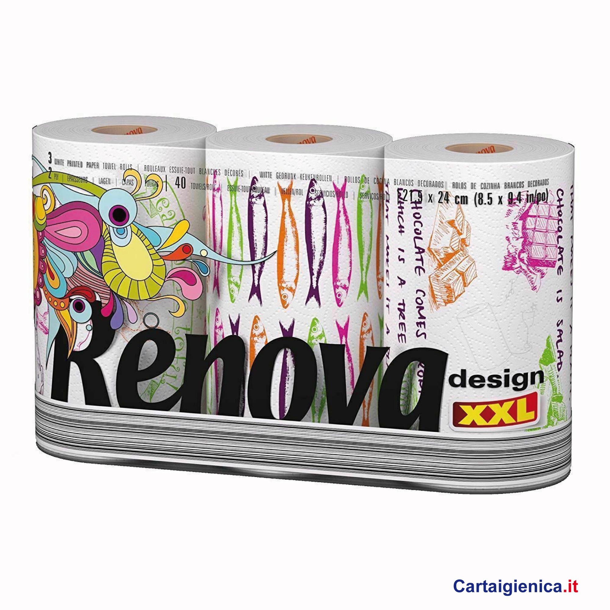 renova carta cucina 3 rotoli immagini diverse asciuga tutto multiuso