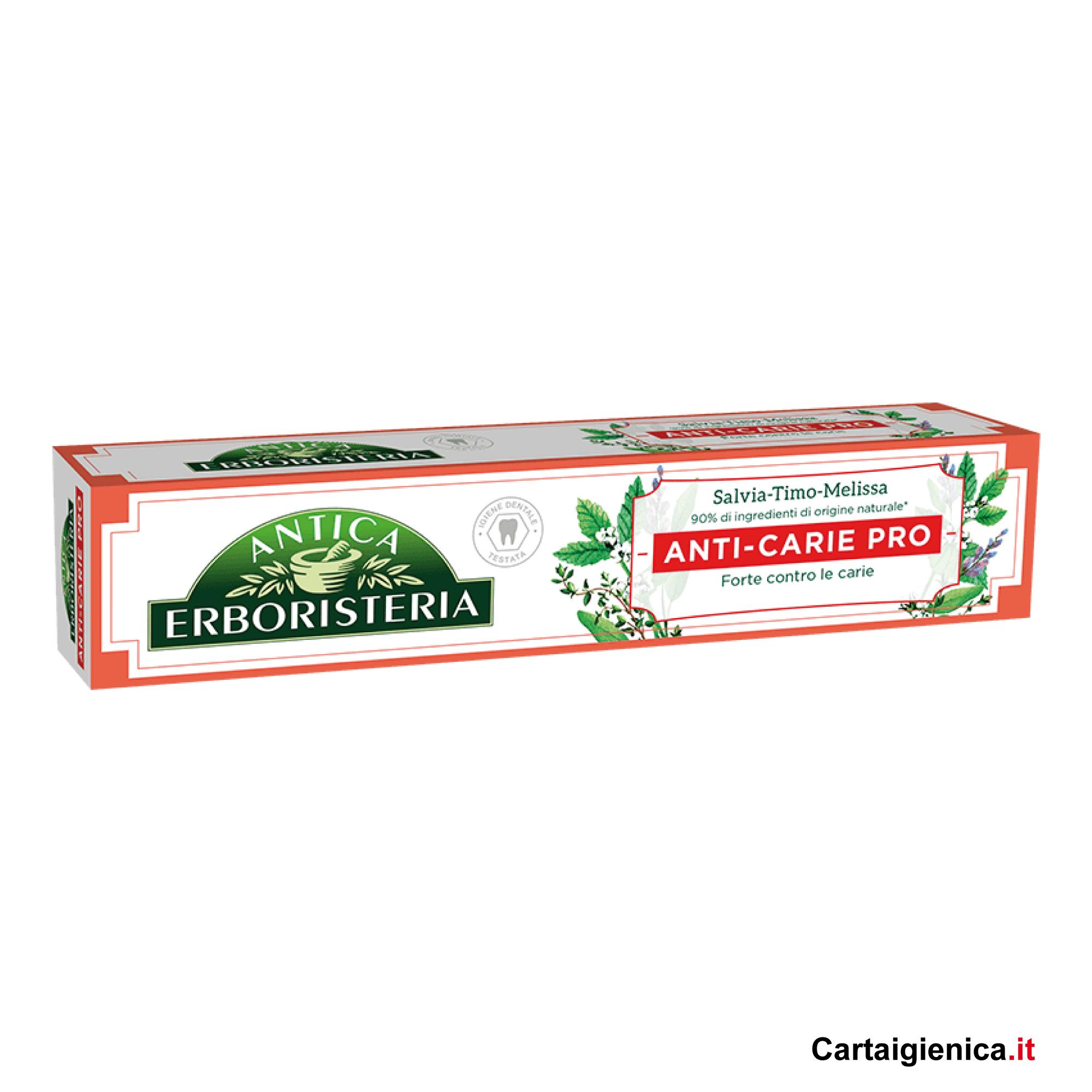 antica erboristeria dentifricio anti carie pro 75 ml