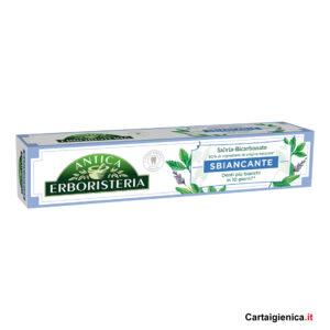 antica erboristeria dentifricio sbiancante 75 ml salvia e bicarbonato