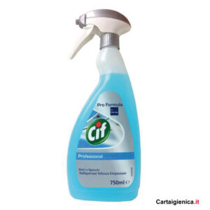 cif professional vetri e multiuso spray 750 ml pulizia