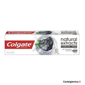 colgate dentifricio natural extracts charcoal white 75 ml