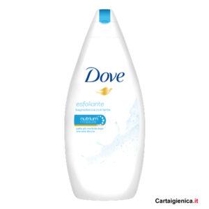 dove bagnodoccia idratante esfoliante 500 ml con crema idratante