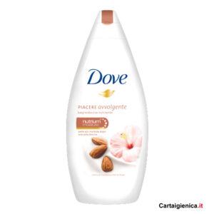 dove bagnodoccia idratante piacere avvolgente mandorla fiori ibisco 500 ml con crema idratante