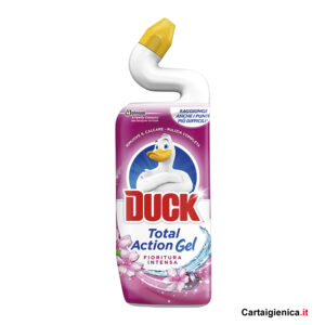duck total action fragranza fioritura intensa pulizia wc 750 ml