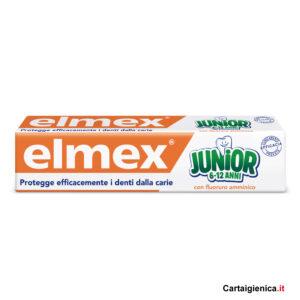 elmex dentifricio junior 6-12 anni prevenzione denti carie