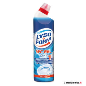 lysoform wc gel tutto in 1 pulizia wc profumo blu 750 ml