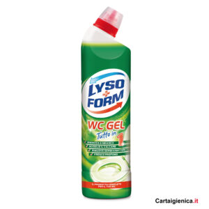 lysoform wc gel tutto in 1 pulizia wc profumo verde 750 ml