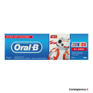 oral b dentifricio junior 6+ anni senza zucchero
