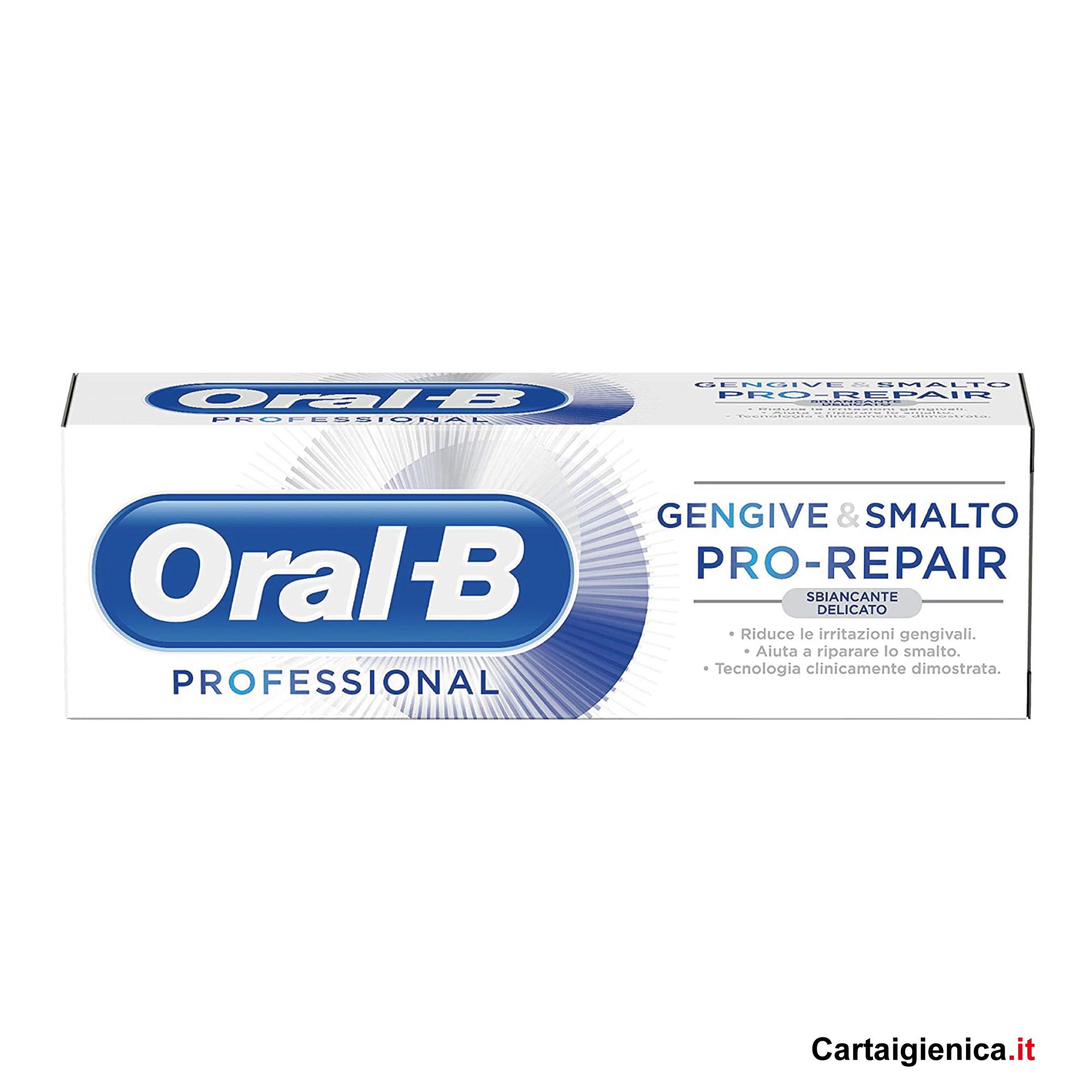 oral-b dentifricio 75 ml sbiancante delicato