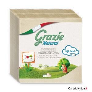 tovaglioli carta riciclata grazie natural 40 pezzi lucart 2 veli