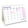 calendario 2021 tavolo caselle scrivania ufficio appunti