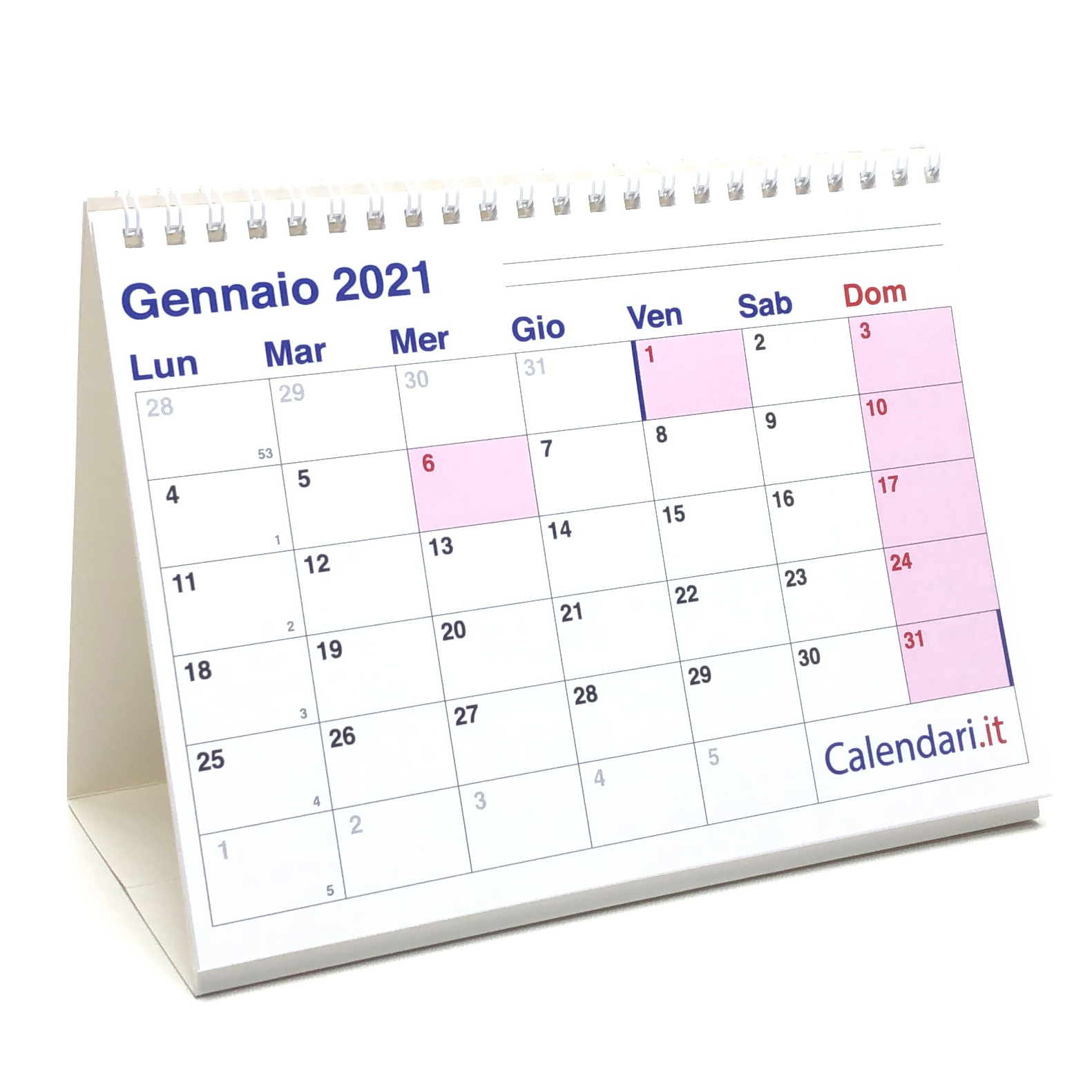 Calendario 2021 Ufficio Calendario 2021 tavolo a caselle 20x15 cm   Cartaigienica.it