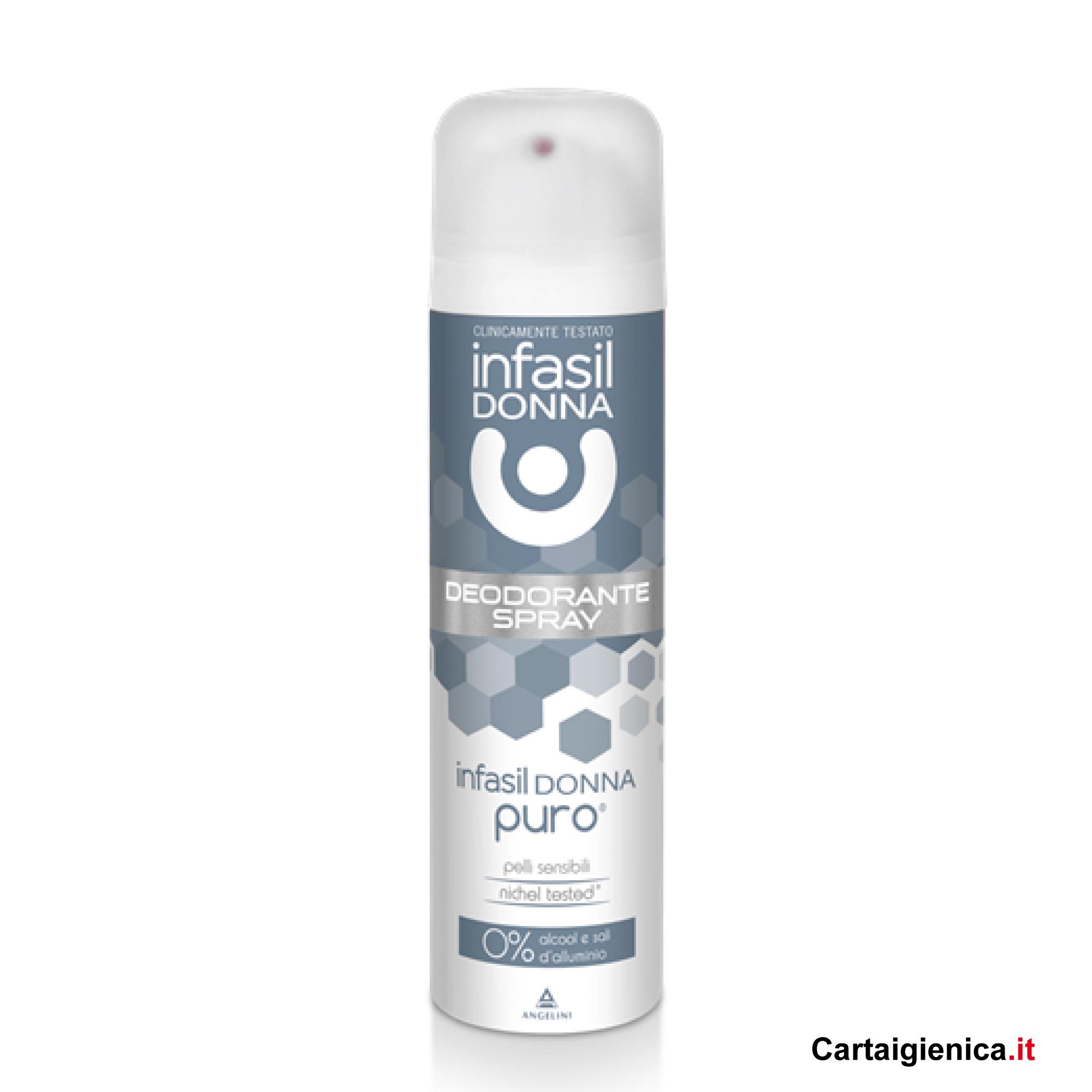 infasil donna deodorante spray puro 150 ml