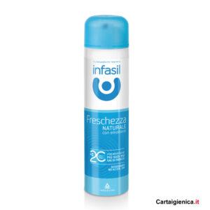 infasil deodorante spray freschezza naturale con emoliente 150ml