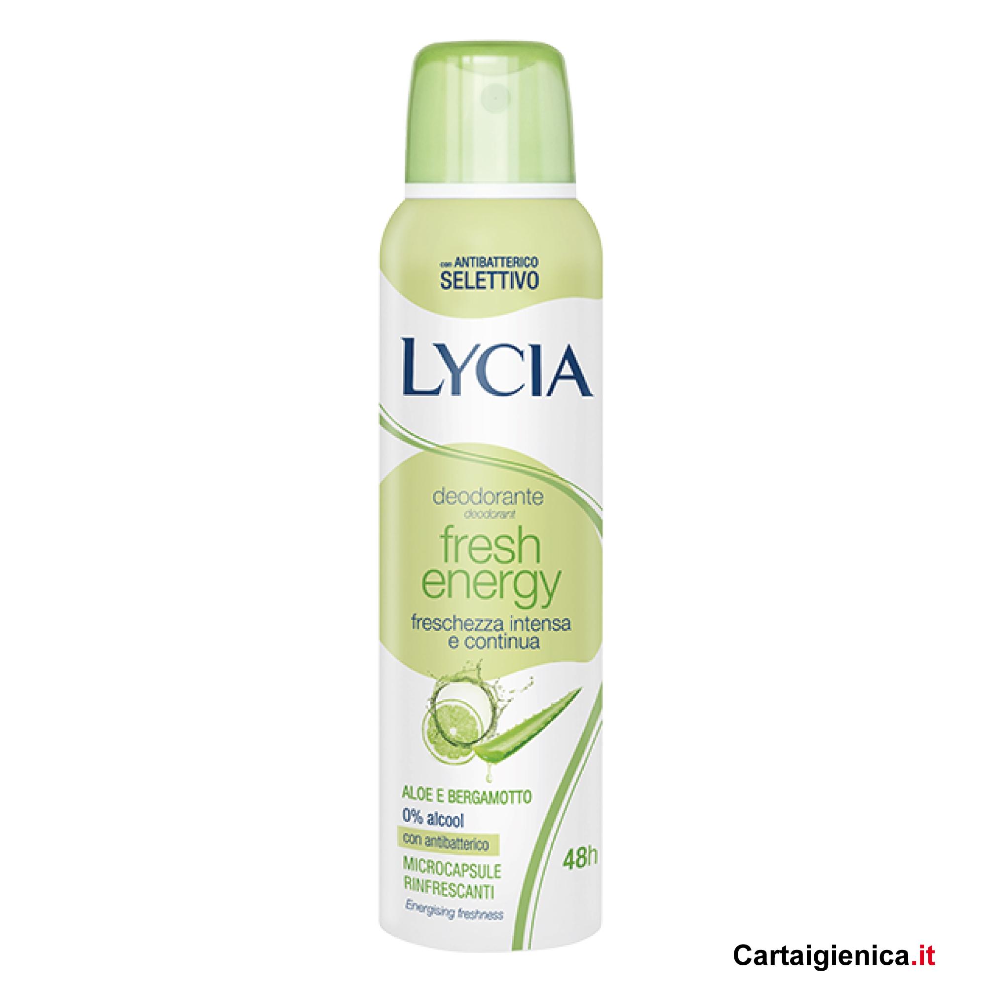 lycia deodorante fresh energy aloe spray 150 ml