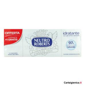 neutro roberts saponetta idratante con glicerina 4 pezzi 100 ml