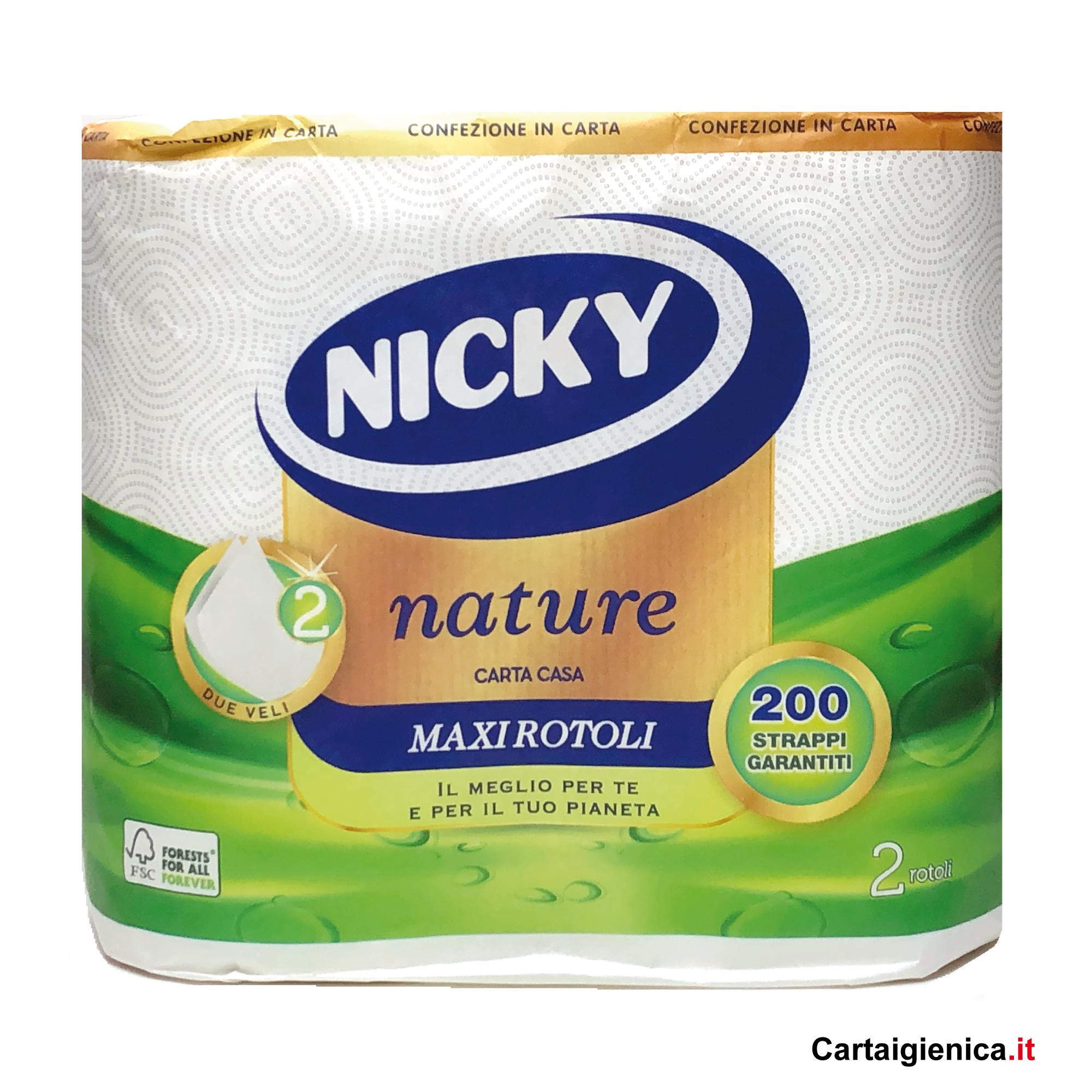 nicky carta cucina nature carta casa 2 rotoli asciugatutto