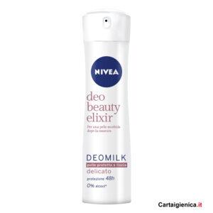 nivea deo beauty elixir deomilk pelle protetta e liscia deodorante spray 150 ml