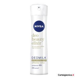 nivea deo beauty elixir deomilk pelle vellutata e liscia deodorante spray 150 ml