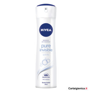 nivea deodorante spray pure invisible 150 ml