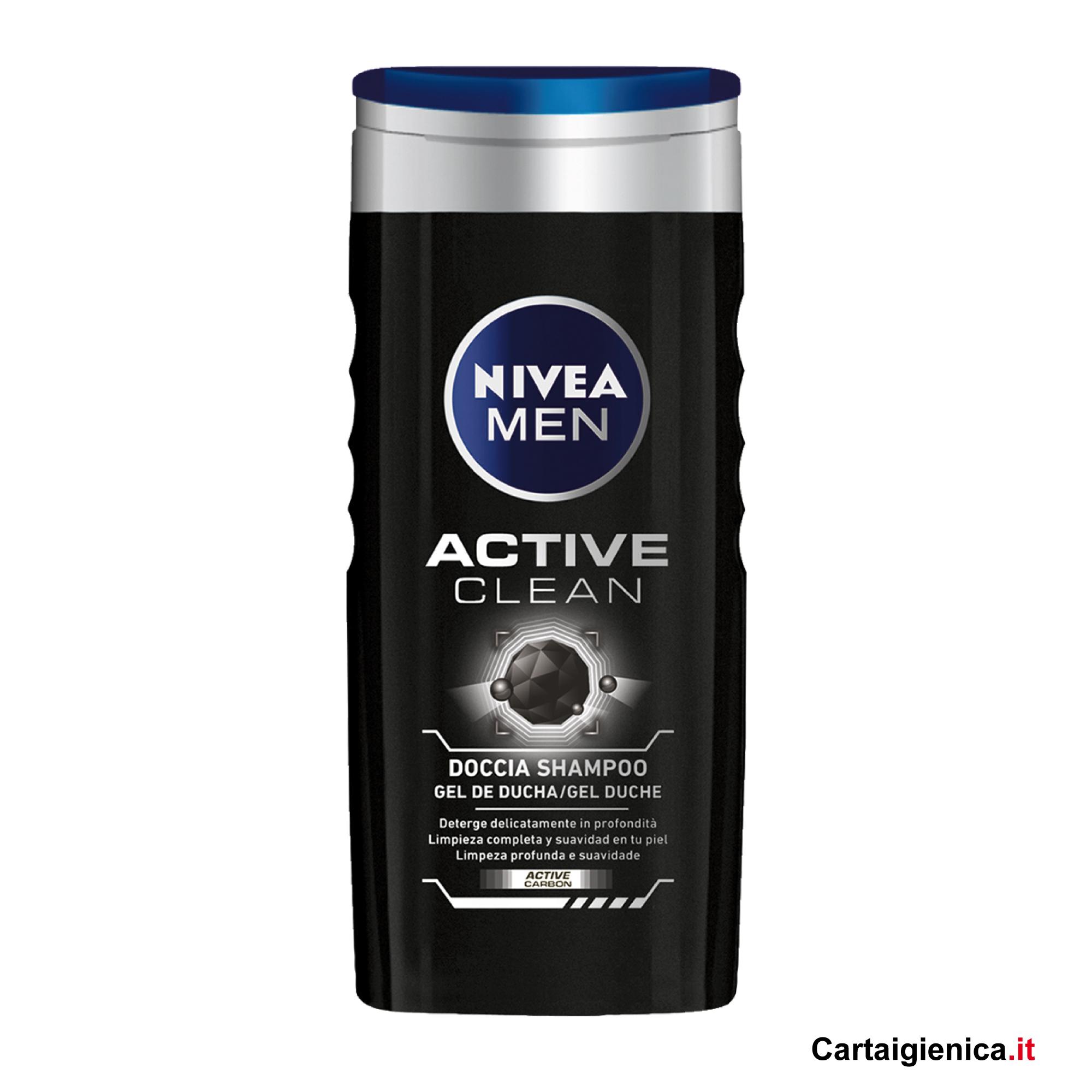 nivea man doccia shampo active 250 ml