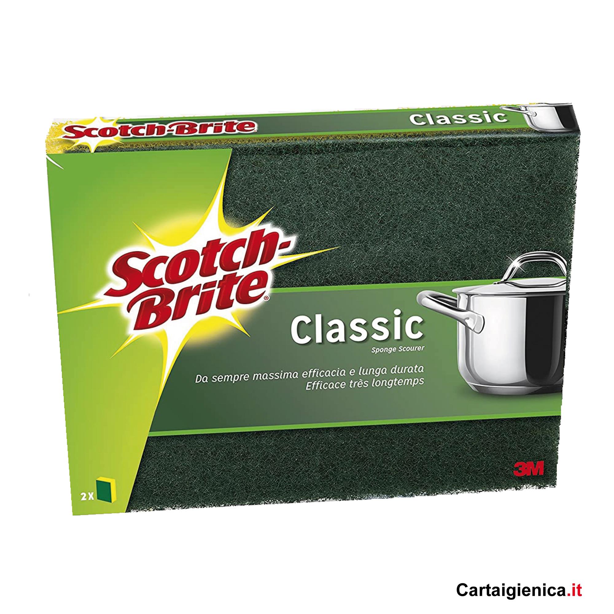 scotch brite spugna classica 1 confezione 2 spugne abrasiva