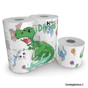 carta-igienica-dinos-kartika-style-collection-dinosauro-bambini-colorata-1-pacco-4-rotoli-festa