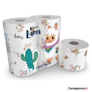 carta igienica lama kartika style collection bambini colorata festa 1 pacco 4 rotoli