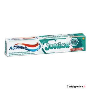 aquafresh dentifricio bambini 6-12 anni 75 ml prevenzione carie