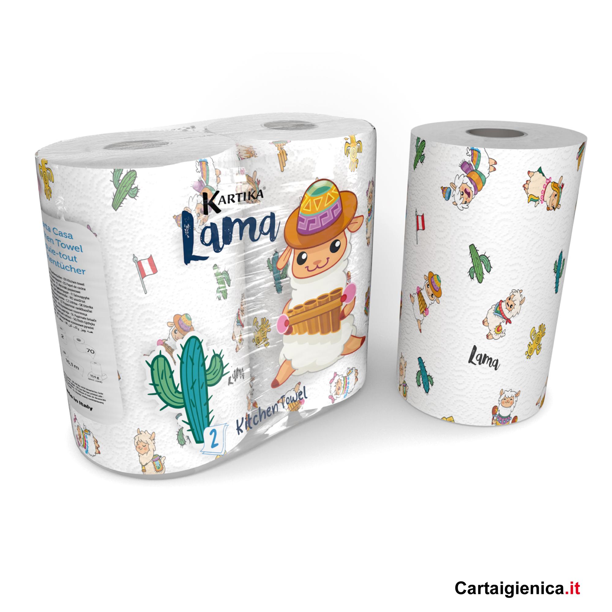 carta cucina lama kartika style colorata idea regalo 2 rotoli