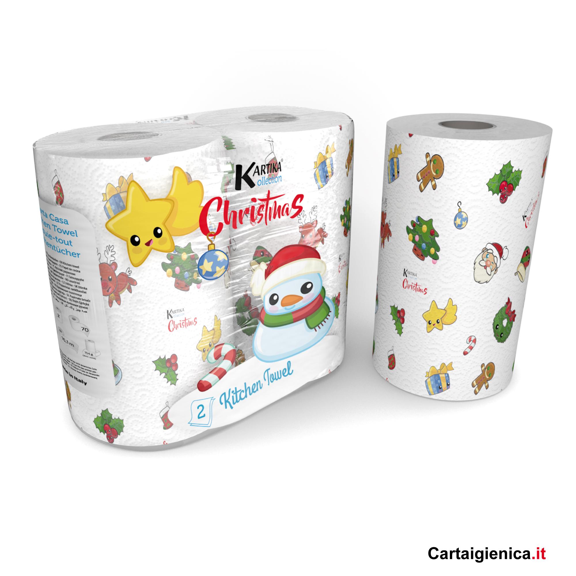 carta cucina natale christmas kartika style colorata idea regalo 2 rotoli