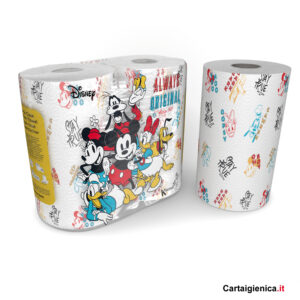 carta cucina personaggi disney kartika style colorata idea regalo 2 rotoli