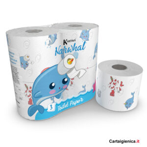 carta igienica narwhal colorata bambini kartika style collection style