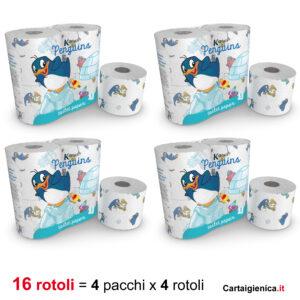 kartika carta igienica pinguino bambini colori allegria bagno 4