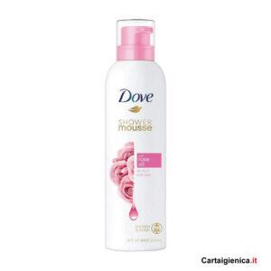 dove mousse doccia olio di rosa corpo